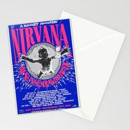 KurtCobain & Nirvana 'NeverMind' Australian Tour Poster 1992 Stationery Cards