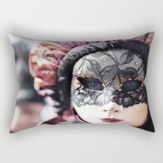 Italy Venice Mask 4 woman Rectangular Pillow