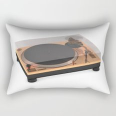 Golden Turntable Rectangular Pillow