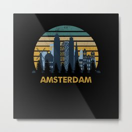 Amsterdam Sunset Skyline Metal Print