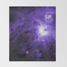 Orion Nebula Ultraviolet Throw Blanket