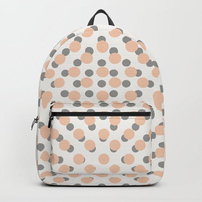 Black & Pink Polka Dots Backpack