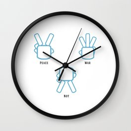 Peace Not War Wall Clock