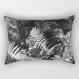 Ostrich Fern in Black and White Rectangular Pillow