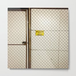 #90Photo #101 #Fence #Texture #Parkinglot at #Work #YellowFound6 Metal Print