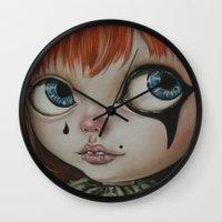 circus Wall Clocks featuring Circus  by Bella Harris