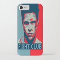 tyler spangler iPhone & iPod Cases featuring Tyler Durden by Jason Vaughan