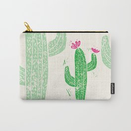 Linocut Cactus #2 Carry-All Pouch