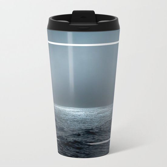 Twilight Geometry Metal Travel Mug