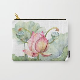Lotus Metaphor for Feminine Beggining Carry-All Pouch
