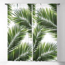 Tropical Palm Leaf Pattern 1 - Tropical Wall Art - Summer Vibes - Modern, Minimal - Green Blackout Curtain