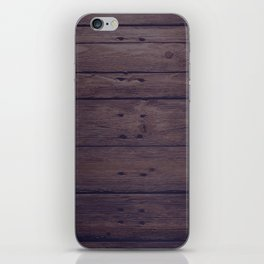 Rustic Distressed Wood Panel Boards Pattern iPhone Skin