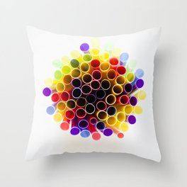 Straws Throw Pillow