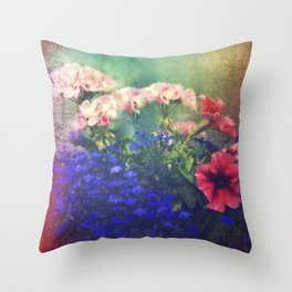 Flowers of my joy Throw Pillow