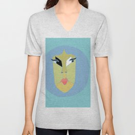Eye ball Unisex V-Neck
