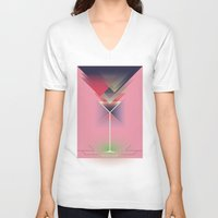 gatsby V-neck T-shirts featuring Gatsby by marcus marritt