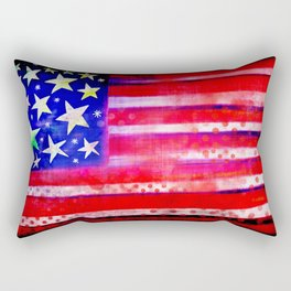Grunge American Flag Rectangular Pillow