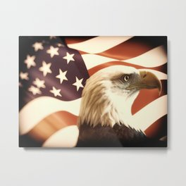Bald Eagle Freedom Metal Print