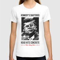 jfk T-shirts featuring Misfits JFK Poster Series - Head Hits Concrete by Robert John Paterson