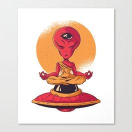 Alien Meditation Tird Eye activated Canvas Print