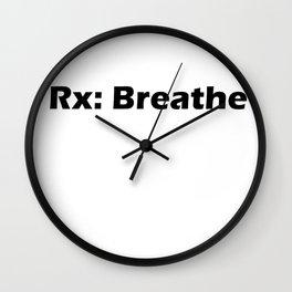 Rx: Breathe Wall Clock