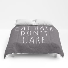 Cat Hair Funny Quote Comforters