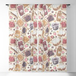 Peanut Butter and Jelly Watercolor Sheer Curtain