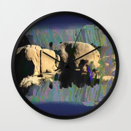 landscape collage #16 Wall Clock