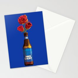 Dudes Love Roses (Blue) Stationery Cards