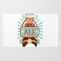 ale giorgini Area & Throw Rugs featuring All Hail Real Ale by Kerry Hyndman