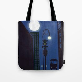 Last Stop For The Night Bus Tote Bag