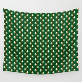Irish Flag Green White Orange on Green St. Patrick's Day Ireland Wall Tapestry