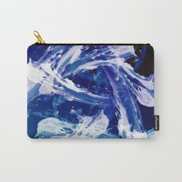 Snowy Abstract Painting Carry-All Pouch