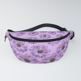 Violet Flowers pattern Design violet Fanny Pack
