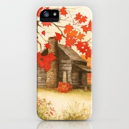 Smoky Mountain Cabin iPhone Case