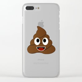 Humor shit poop emoji funny and kawaii character Clear iPhone Case