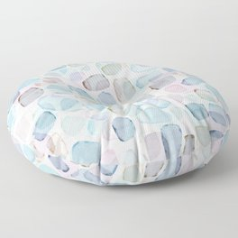 Colorful Cobblestone Abstract Floor Pillow
