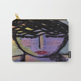 Deep in Thought Abstract Painting Carry-All Pouch