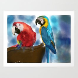 We are two of a kind Art Print