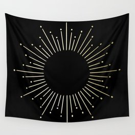 Mod Sunburst Gold 1 Wall Tapestry