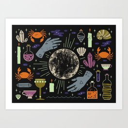 Spooky Horoscopes: Cancer Art Print