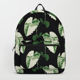 Philodendron variegata leaves black Backpack