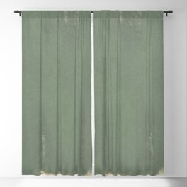 Minimal Abstract Green Colorfield Painting 01 Blackout Curtain