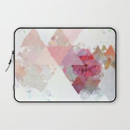 Pink white rosegold triangle pattern Laptop Sleeve