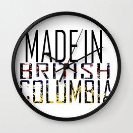 Made in British Columbia Wall Clock