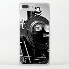 Long Black Train Clear iPhone Case