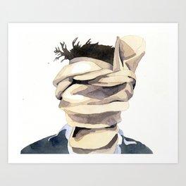 Scarf Face Art Print