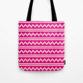 Pixel Pink Side Scroller Tote Bag