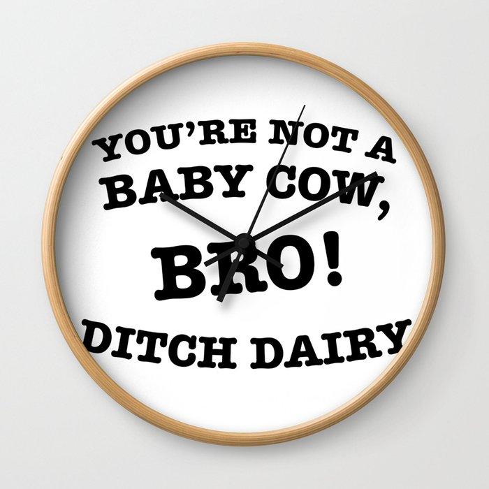 Ditch Dairy Wall Clock