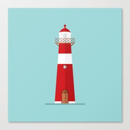 Lighthouse on blue Canvas Print